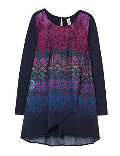 Desigual Mädchen Vest_MAGRANA Kleid, Blau (Navy 5000), 128 (Herstellergröße: 7/8)