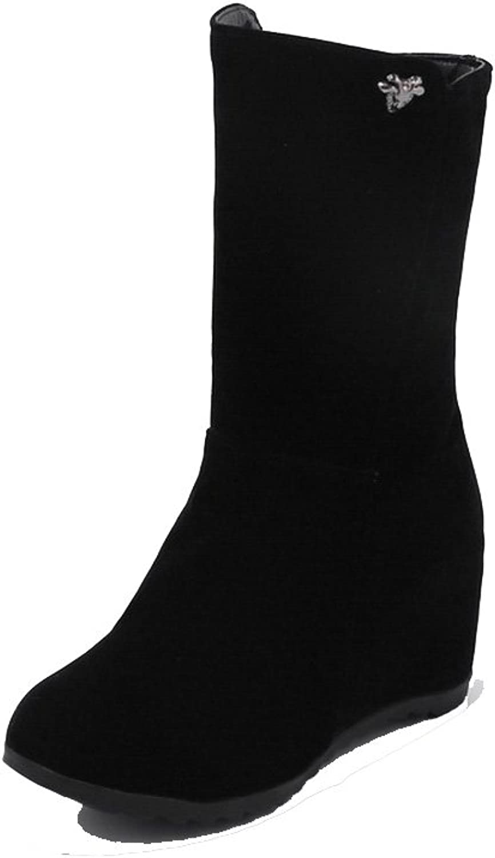 AdeeSu Womens No-Closure Mid-Calf Charms Urethane Boots SXC02437