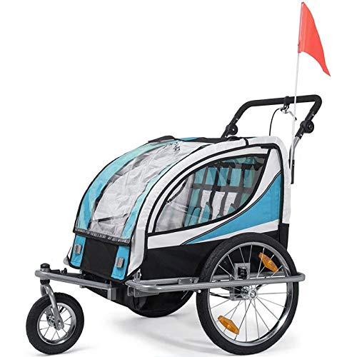 GT-LYD 2In1 Kinderanhänger Kinderfahrradanhänger,360 ° Drehbarer Kinderfahrradanhänger Transport Buggy, Träger Für 2 Kinder