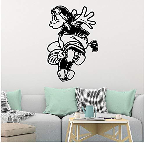 Wandaufkleber Skateboard Wasserdichte Wandkunst Kinderzimmer Kinderzimmer Nordischen Stil Dekoration 42 cm X 62 cm
