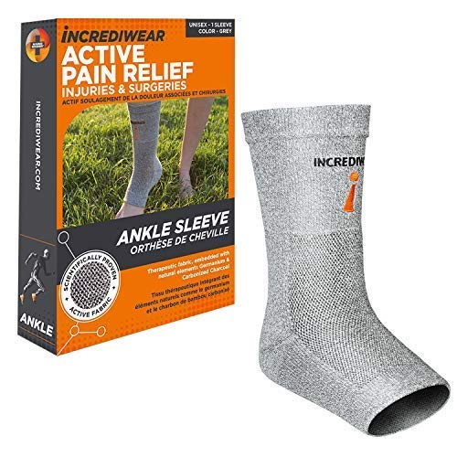 Incrediwear Ankle Sleeve - Ankle Brace for Women and Men for Joint Pain, Swelling & Inflammation, Ankle Support for Working Out, Running and Joint Pain Relief (Grey, Small/Medium)