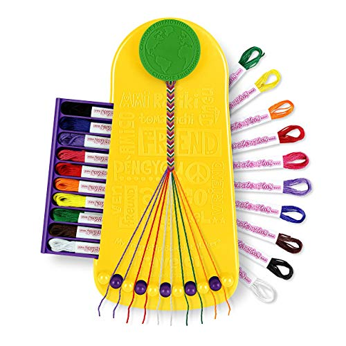 Choose Friendship, My Friendship Bracelet Maker, 20 Pre-cut Threads (Craft Kit / Kids Jewelry Kit)