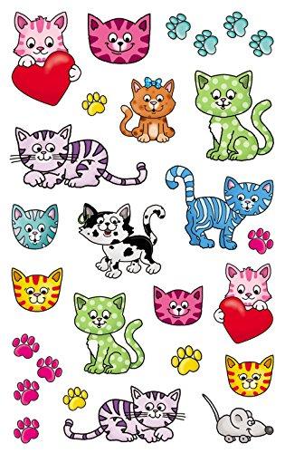 AVERY Zweckform 56793 Metallic Stickers, Katzen, 27 Aufkleber