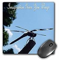 3drose LLC 8x 8x 0.25インチドラゴンフライInspires想像力マウスパッド(MP 27139_ 1)