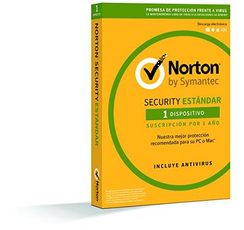 Norton Security Estándar 2019 - Antivirus, PC Mac, 1 dispositivo, 1 año