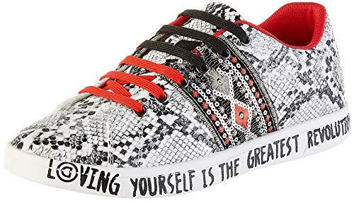 Desigual Damen Shoes Cosmic Exotic Snake Sneaker, Grau (Gris Medio 2007), 38 EU