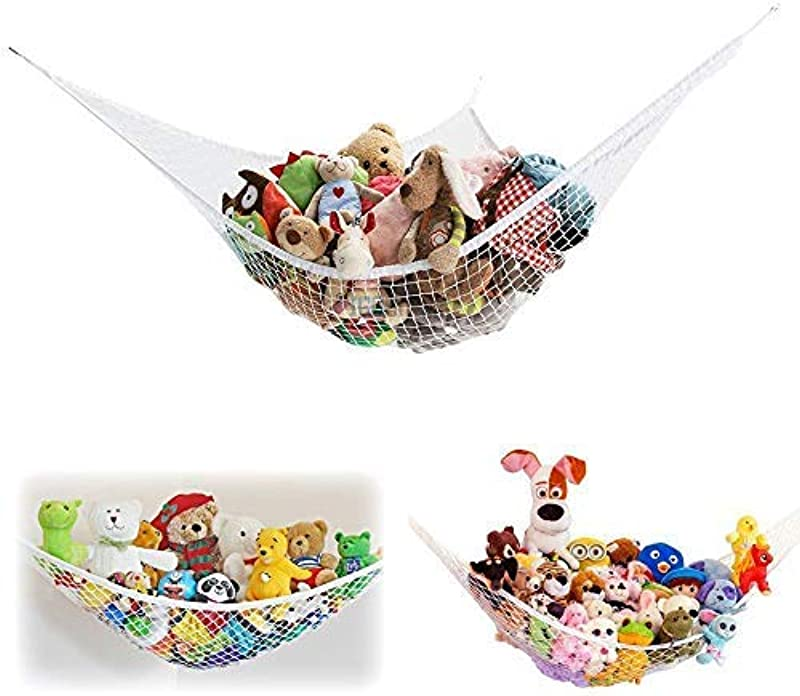 2 Pack Of Jumbo Size Toy Stuffed Animal Storage Hammock With Elastic Bands Easy To Install Toy Storage Hammock With No Stuffed Animals No Included