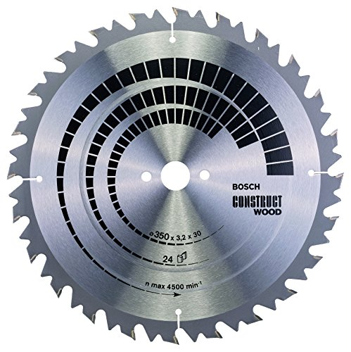 Bosch Professional Kreissägeblatt Construct Wood (Holz, 350 x 30 x 3,2 mm, 24 Zähne, Zubehör Kreissäge)