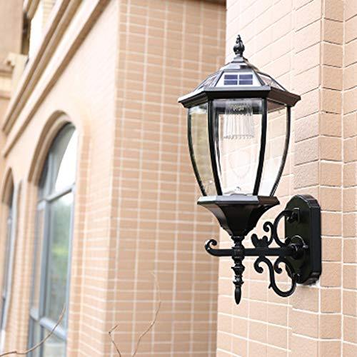 Wandlamp op zonne-energie, buitenverlichting, tuinverlichting, waterdicht, modern, minimalistisch, decoratieve verlichting voor garage, tuin, villa