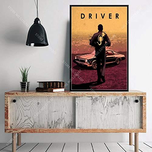 yaofale Kein Rahmen Art Decor Classic Movie Protagonist Heiße Charaktere John Wick Drive Pulp Fiction Wandkunst Leinwand Malerei Seide Poster 40x50cm