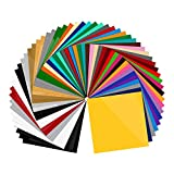 55 Pack 12 X 12 Premium Permanent Self Adhesive Vinyl Sheets-Assorted Colors for Craft Cutters,Printers,Letters,Decals (55 Pack)