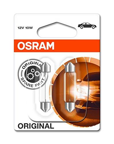 Osram 6411-02B Glühlampe, Klar, Double Blister, Set of 2