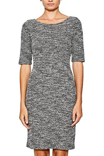 ESPRIT Damen 097EE1E017 Kleid, Mehrfarbig (Black 001), Small