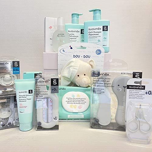Suavinex Canastilla PREMIUM Recién Nacido Regalo Bebé 0-6 meses (BLANCA)