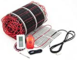 45 sq.ft. 120-Volt. Ceramic & Stone Tile Electric Floor Heating Kit w/Honeywell Floor Thermostat and Installation Alarm, (30 ft. x 1.5 ft.)
