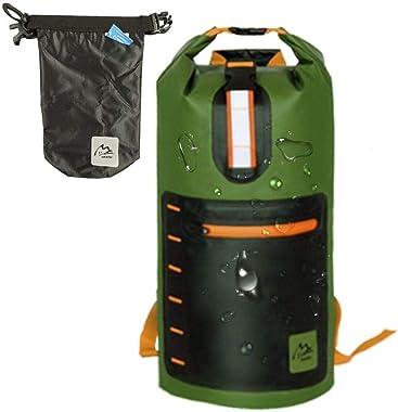 Summitter- Dry Bags Waterproof Backpacks 20L, Comfortable Padded Shoulder Waterproof Sack Bag for Boating,Kayaking,Dry Sack Waterproof Bag(Inner and Outside Pockets/Dry and Wet Set