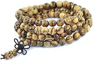 Authentic Vietnamese agarwood incense 108 beads 6-8mm fashion prayer beads meditation bracelets men jewelry wood wristband (6mm)