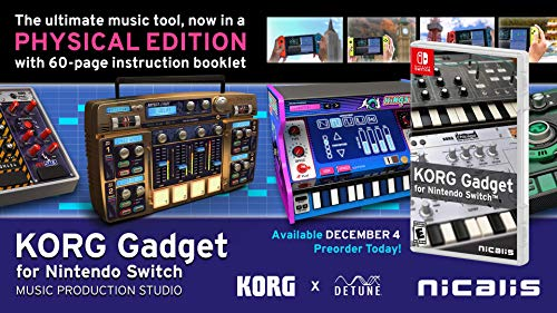 [Switch] KORG Gadget for Nintendo Switch - $39.63 at Amazon
