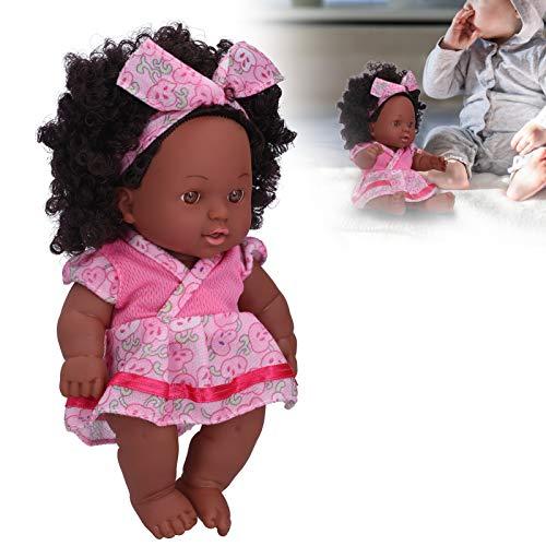 Livsliga babydockor, söta återfödda dockor för lockigt hår, vuxna för barnens samlare heminredning(Q8-002 pink embossed skirt)