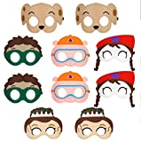 All Star Games Felt Masks for Super Why Party - 10 Masks - Comfortable, One-Size-Fits-Most Design - Premium Quality Eco-Felt and Fleece. Great for Birthday Gift, Party Favor, Cosplay