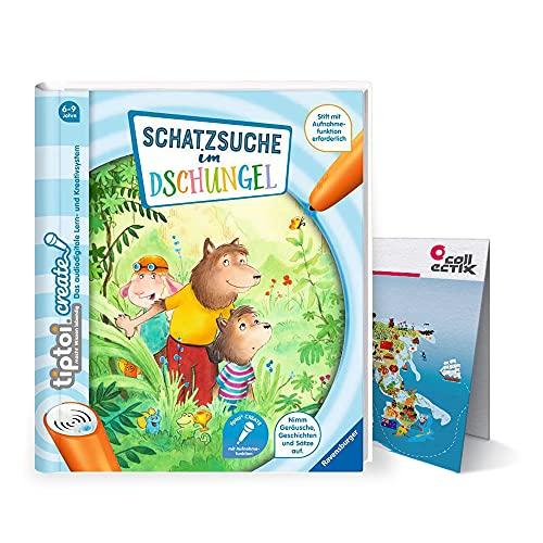 Ravensburger Tiptoi Create libro   Busca el tesoro en la selva + mapa del mundo para niños a partir de 6 años