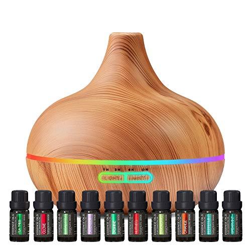 Difusores de aromaterapia con juego de aceites esenciales