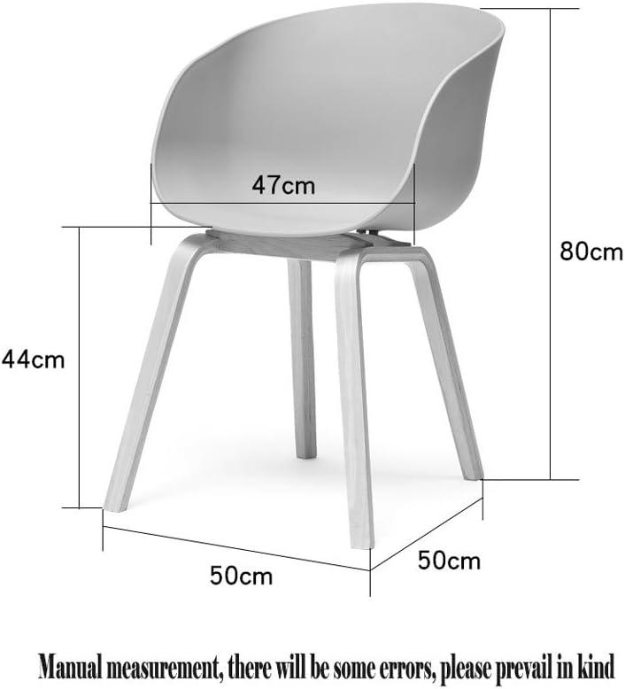 Chaise de salle à manger en bois nordique, chaise de salon design chaise de chat personnalité chaise de café (Couleur : A) C