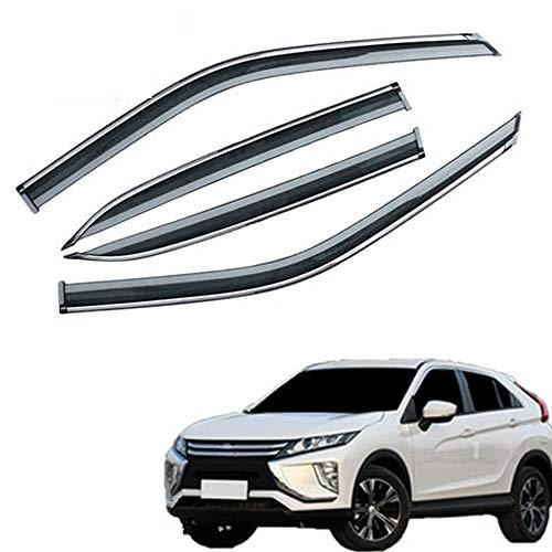 ZLGYH Fensterabweiser, 4 Stück Kompatibel Mit Passform Für Mitsubishi Eclipse Cross 2010-2019, Seitenfenster Visiere Regen Schnee Sonnenschutz, Acrylglastür