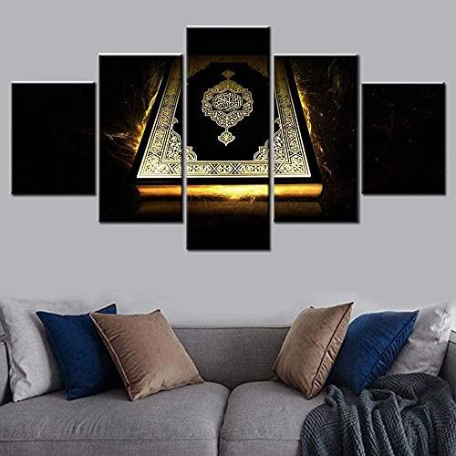 Cartel de arte de pared impreso en HD moderno pintura de lienzo modular 5 piezas imágenes de la Biblia antigua para la decoración del hogar de la sala de estar