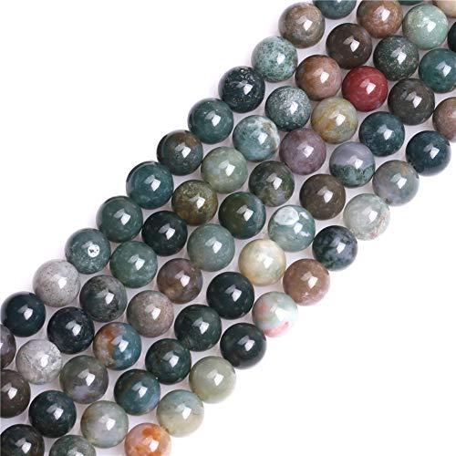 Sweet & Happy niña shop piedrapreciosa India cuentas de ágata Strand 38.1 cm joyería fabricación perlas, 8mm Indien Achat