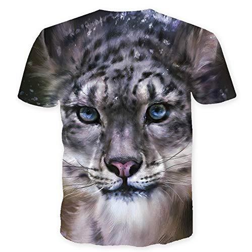 Nieuwe zomer korte mouwen 3D luipaard T-shirt straat kleding 3D Animal Print T-shirt mannen