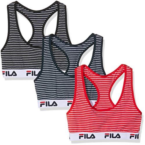 Fila Damen Sport-BH FILA/AM/BRAX3 (3er Pack), Mehrfarbig, Small