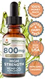 High Strength Hemp Oil for Body & Mind Wellness - 800mg Pure Hemp Flavor (2 oz - 120 Servings) Restorative Botanicals - Pain Relief for Weary Muscles & Joints, Healthy Sleep, Mental Clarity