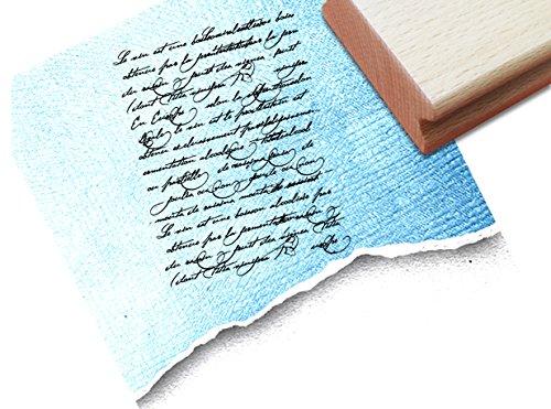 STEMPEL - Vintage tekststempel Vintage Écriture IV met oude handschrift, elegante letterstempel in Shabby chic stijl - typostempel van zAcheR-fineT