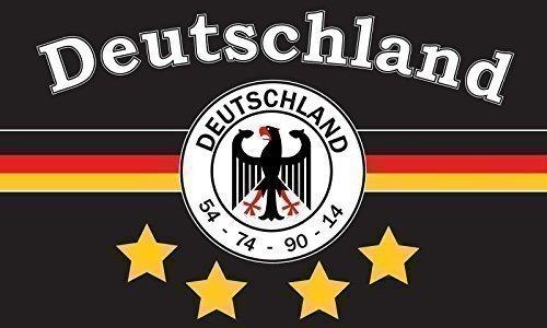 TS24direkt Deutschland Fahne 4 Sterne ca. 90 x 150 cm - 54-74 - 90-14
