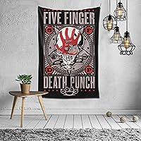 タペストリー Five Finger Death Punch ファイヴ・フィンガー・デス・パンチ 壁掛け プ飾り お間仕切り ファブリック 部屋 窓装飾 個性 インテリア 飾り おしゃれ 多機能 装飾用品 個性ギフト 新居祝い バレンタインデー 飾り (150x100cm)