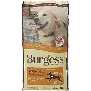 Customer reviews Burgess Sensitive Hypoallergenic Dog Food Adult British Turkey and Rice 12.5kg