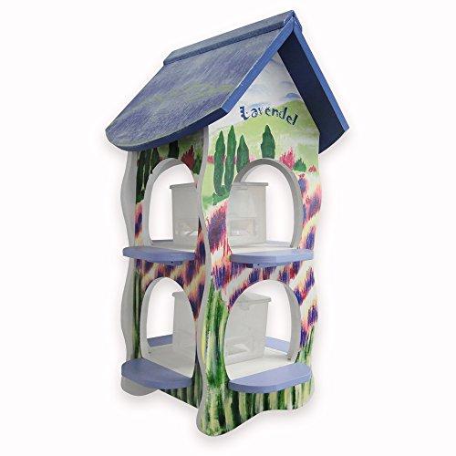 Habau 3131 Futterhaus Lavendel mit 2 Silos und Ständer