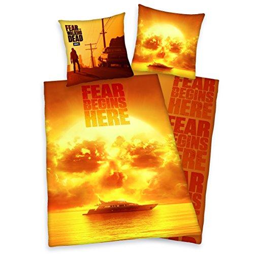Fear The Walking Dead Bettwäsche, 2-teilig 80 x 80 cm, 135 x 200 cm Baumwolle 100{3f3c7b7c501fea7e184553c6df104d4cf9bb4919979d96bbda7ba2f3f7b348be} bunt