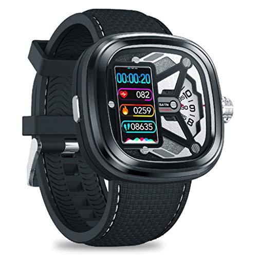 HQPCAHL Smartwatch Mechanische Uhren Fitness Tracker Mit Herzfrequenzmesser, Aktivitäts-Tracker, Schrittzähler, Schlafmonitor, Kalorienzähler, Schrittzähleruhr,A