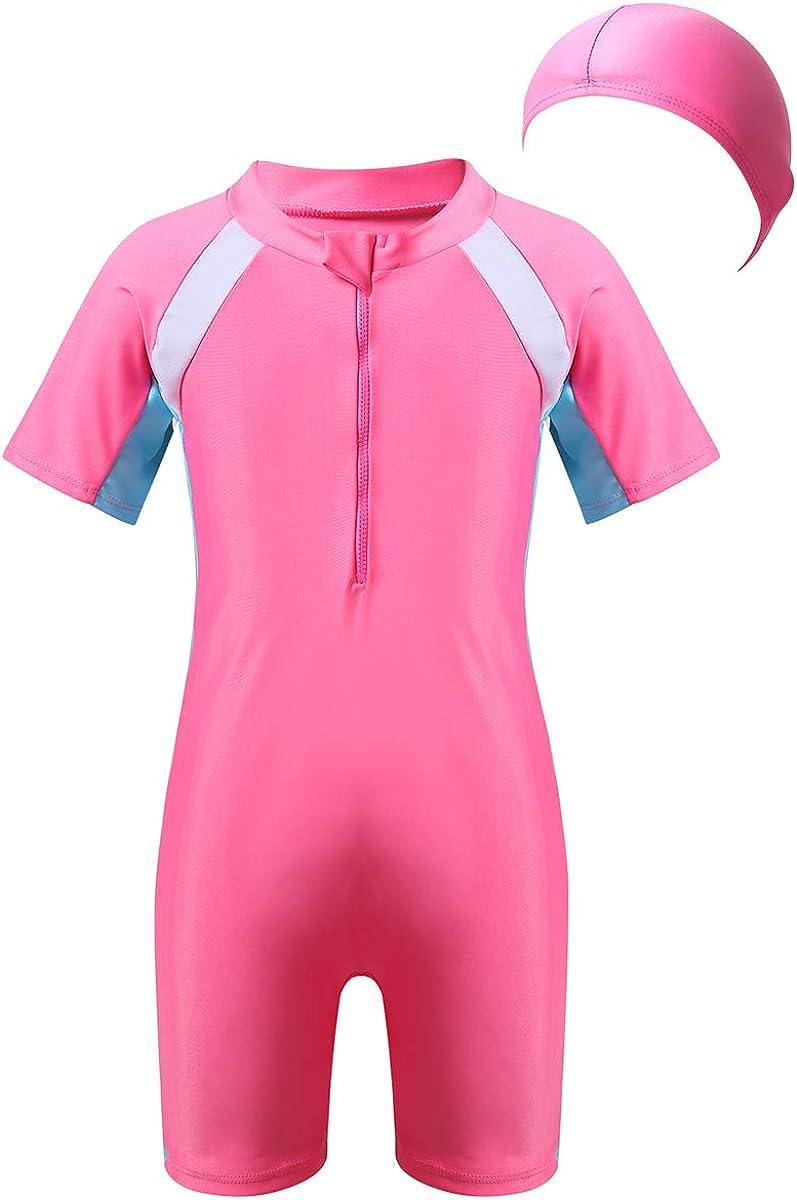 inhzoy Kids Rash Guard Wetsuits Youth Girls Boys Swimsuit One Piece Water Sports Sunsuit Swimwear