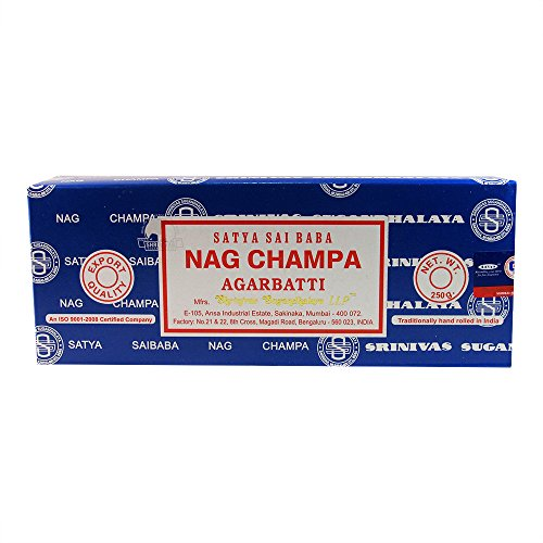 Satya Sai Baba Nag Champa Agarbatti Incense Sticks Box 250gms Hand Rolled Agarbatti Fine Quality Incense Sticks for Purification, Relaxation,...