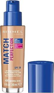 Rimmel Match Perfection - nawilżający podkład do twarzy, nr 400 - Natural Beige