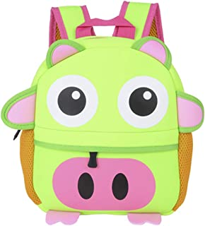 Little Kids Backpack Children School Bags Cute Animals Packs Preschool Bags for Boys Girls 1-3 Years Old, Piggy (Green) - ...