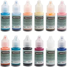 TIMBERTECH Acrylic Airbrush Paint Ⅱ, Professional 12x10ml Airbrush Color Set Acrylic Model Paint, Quick Drying Water Based, Rich Vivid Colors for Artists, Students, Beginners