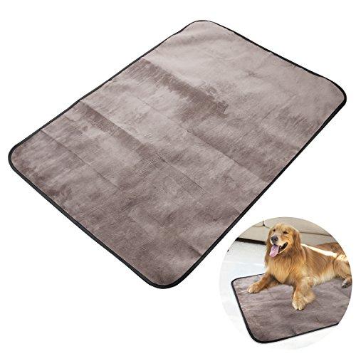 Manta para mascotas, impermeable y de felpa manta para perros con bolsa de transporte