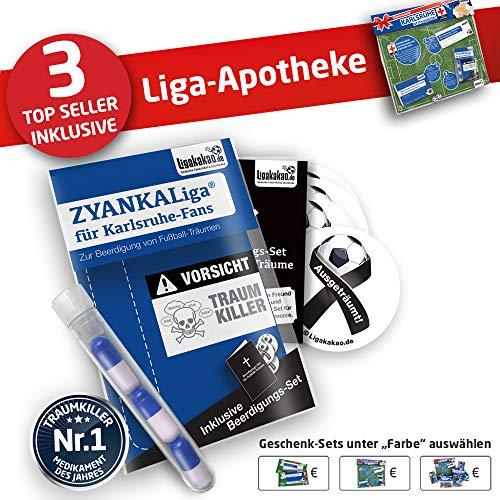 Karlsruhe Kapuzen-Pullover ist jetzt die Liga-APOTHEKE für KSC Fans by Ligakakao.de Herren Hoody fußball Fan Fleece Sweatshirt blau-weiß