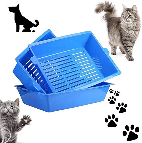 UYICTT 3Pcs Cat padelle Semi Closed Anti-Spruzzi Cat WC Lettiera Accessori for la Scatola di plastica Padella Caso dell'animale Domestico, Facile da Usare, 45 * 32 * 11 Centimetri GAGGE
