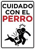 Oedim Señal Cuidado con el Perro | Tamaño A5...