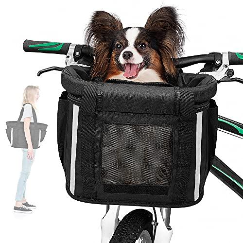ANZOME Dogs Carrier Bike Basket, Sm…